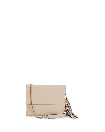 Mini Sugar Calfskin Shoulder Bag, Ivory