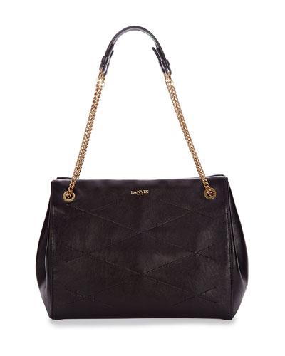 Medium Quilted Leather Shoulder Bag, Black