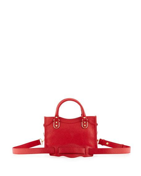 Edge City Mini Leather Satchel Bag, Red