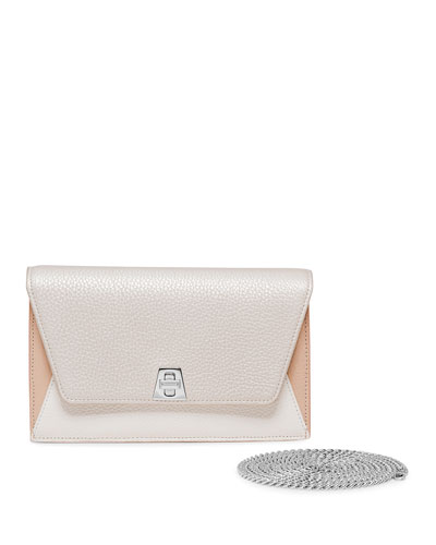 Anouk Mini Chain Clutch Bag, Champagne
