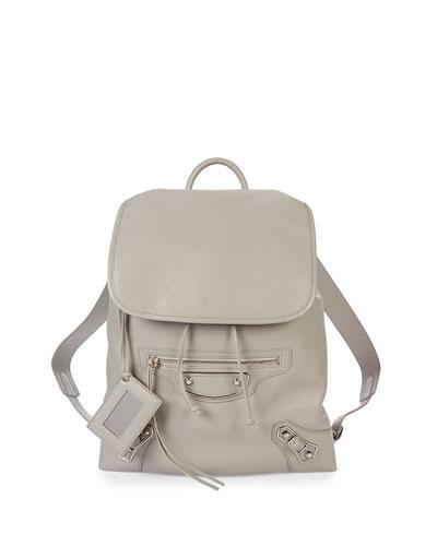 Metallic Edge Traveler Backpack, Light Gray