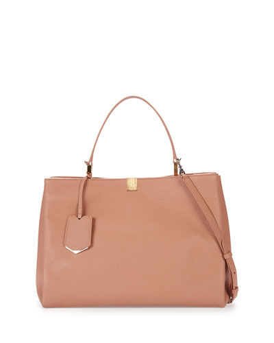 Le Dix Soft Leather Satchel Bag, Rose