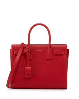 Sac de Jour Leather Baby Carryall Bag, Rouge