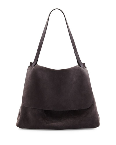 Suede Hunting Bag 14, Dark Gray
