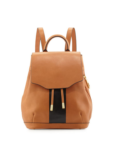 Mini Pilot Leather Backpack, Tan