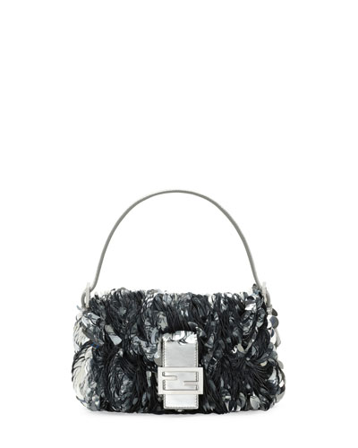 Baguette Paillette-Embellished Shoulder Bag