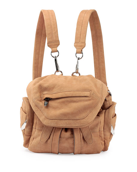 Marti Mini Nubuck Backpack, Nude