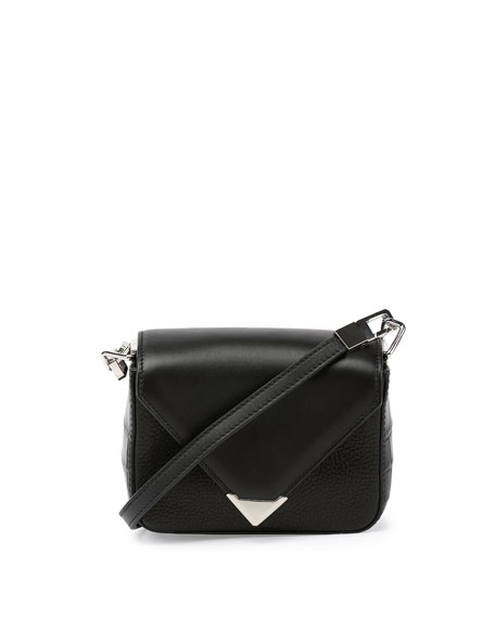 Prisma Envelope Mini Shoulder Bag, Black