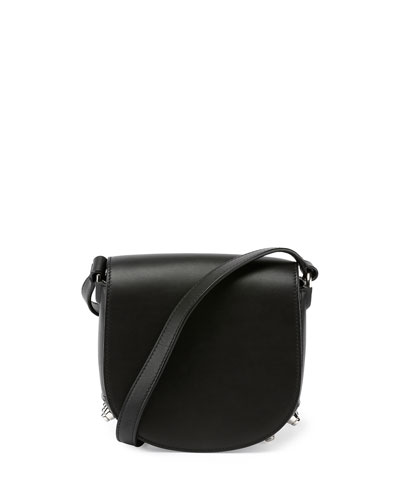 Mini Lia Smooth Crossbody Bag, Black