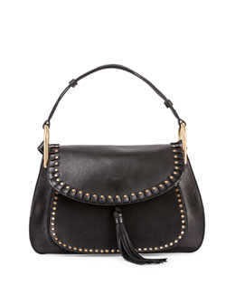 Hudson Leather Double-Carry Bag, Black
