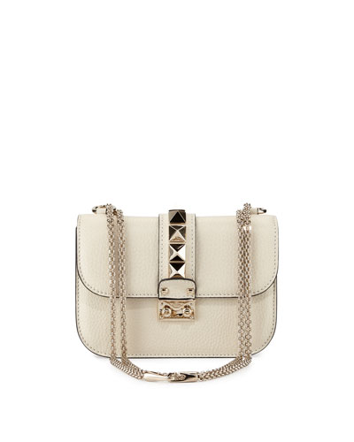 Small Rockstud Flap-Top Shoulder Bag