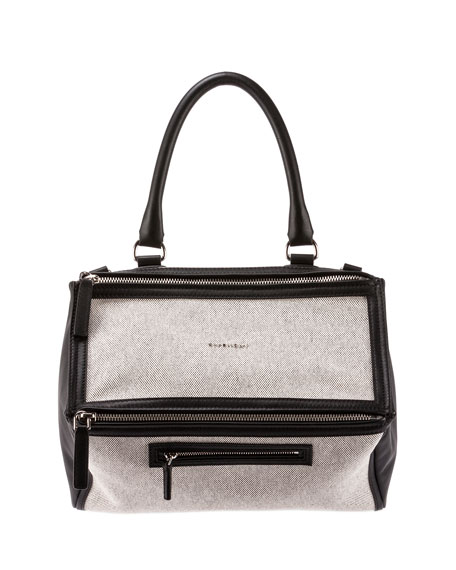 2758b3677c54 Givenchy Pandora Medium Canvas   Leather Bag