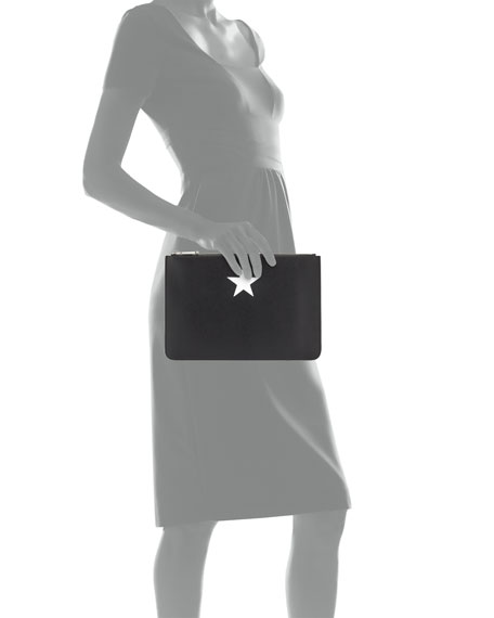 4f559ac699 Givenchy Iconic Smooth Leather Star Clutch Bag