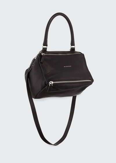 Pandora Small Sugar Satchel Bag, Black