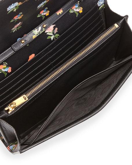 yves saint laurent bags - Saint Laurent Monogram Prairie Flower Printed Wallet-on-Chain ...