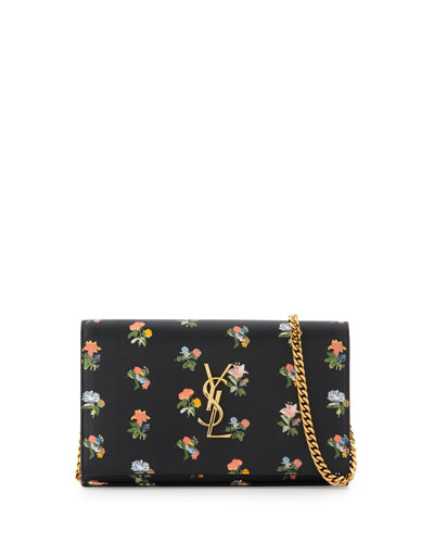 Monogram Prairie Flower Printed Wallet-on-Chain, Black Multi