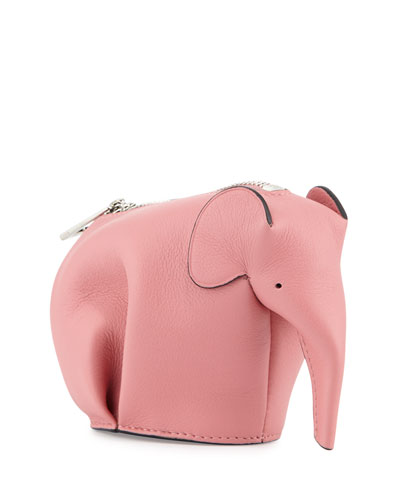 Leather Elephant Coin Purse, Pink Candy