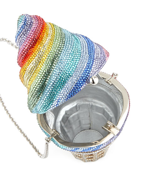 Ice Cream Cone Crystal Minaudiere, Multi