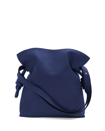 Flamenco Knot Small Bucket Bag, Marine