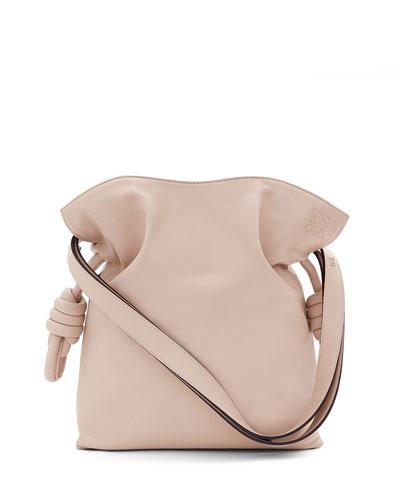 Flamenco Knot Small Bucket Bag, Ash