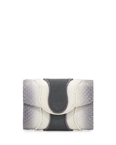Jolie Python & Watersnake Clutch Bag