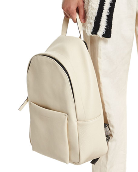 d69015a95 Brunello Cucinelli Pebbled Leather Backpack, Cream