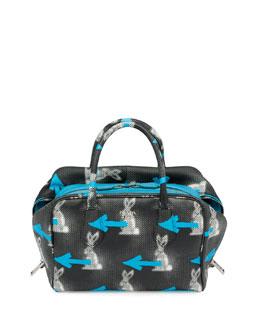 Daino St. Rabbits Inside Bag, Black/Blue (Nero+Azzurro)