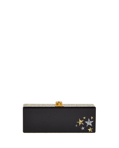 Flavia Star Cluster Clutch Bag, Obsidian/Multi