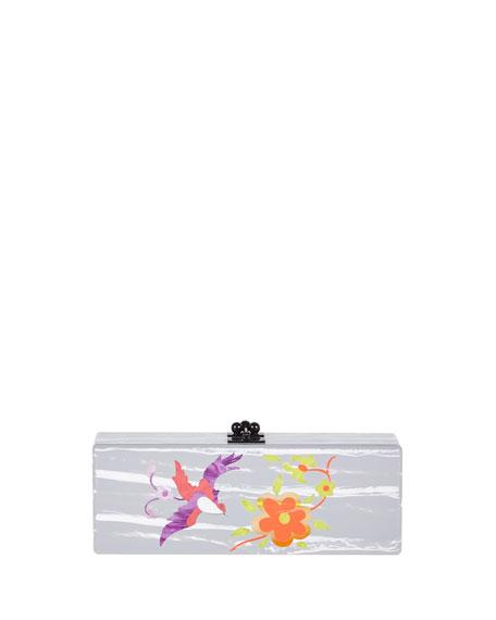 c6580a26c4 Edie Parker Flavia Garden Acrylic Clutch Bag