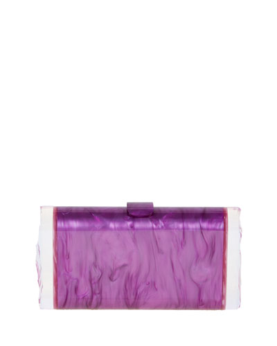 Lara Acrylic Backlit Clutch Bag, Orchid/Mauve