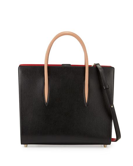 Paloma Large Triple-Gusset Tote Bag, Black