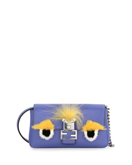 Fendi Baguette Micro Monster Bag, Purple Multi
