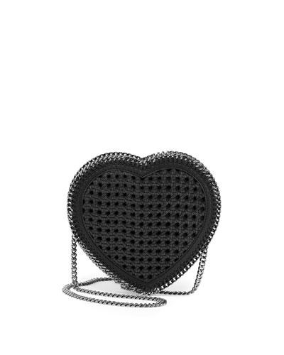 Studded Heart Crossbody Bag, Black