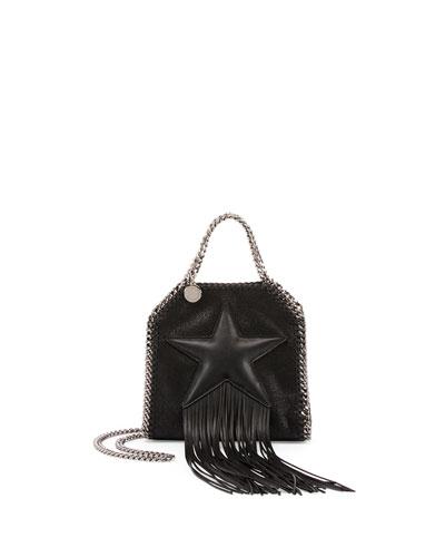 Star-Print Tiny Bella Crossbody Bag, Black