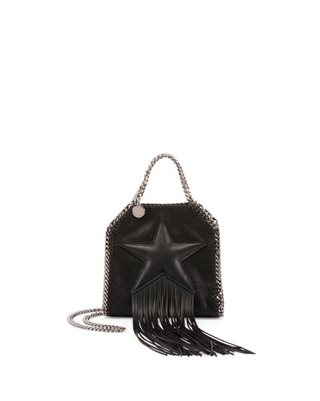 Star-Print Tiny Bella Crossbody Bag, Black