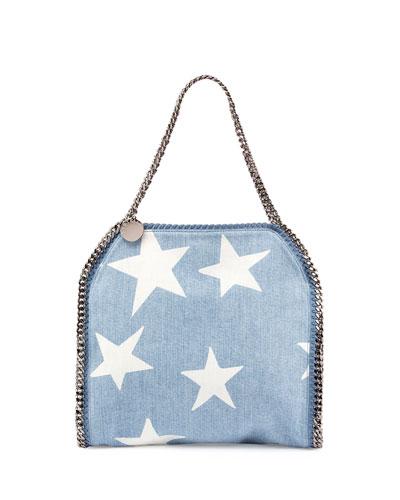 Small Falabella Star-Print Tote Bag, Blue