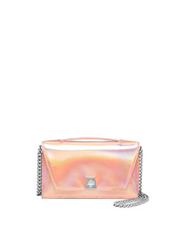 Anouk Small City Flap-Top Bag, Pale Rose/Metallic