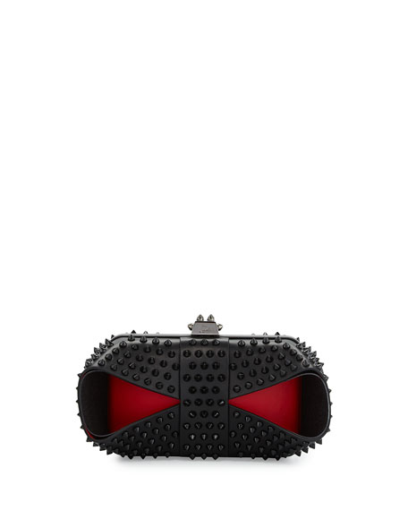 7450ee9d26b Grandotto Spike Clutch Bag Black/Red