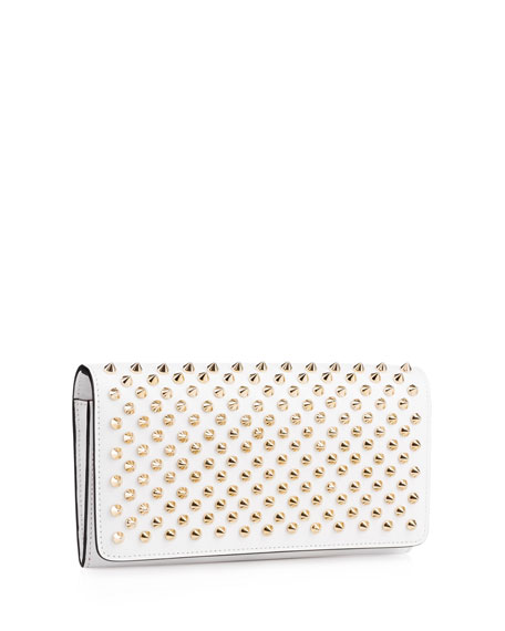 212f09061bca Macaron Flap Wallet with Spikes White/Gold