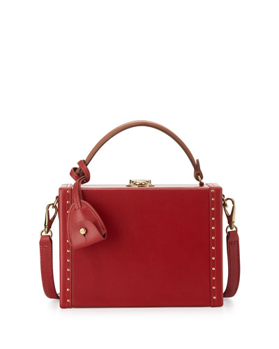Mini Attaché Box Shoulder Bag, Red
