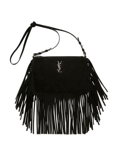 Small Suede Fringe Shoulder Bag