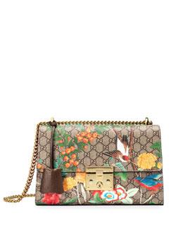 Padlock GG Supreme Tian Shoulder Bag, Beige/Ebony