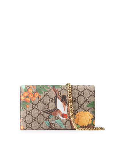 GG Supreme Tian Mini Chain Bag, Beige/Red