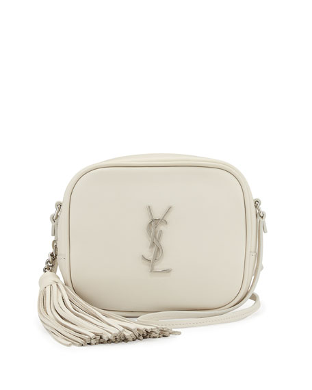 Saint Laurent Monogram Toy Camera Shoulder Bag, White