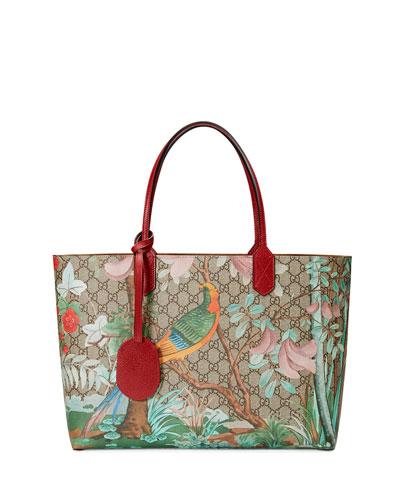Medium Tian-Print GG Supreme Tote Bag, Multi
