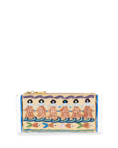 Soft Laura Luau Clutch Bag, Beige