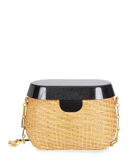 Jane Basket Shoulder Bag, Neutral