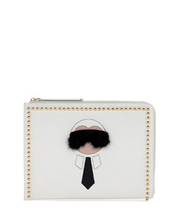Karlito Large Pouch W/Fur Detail