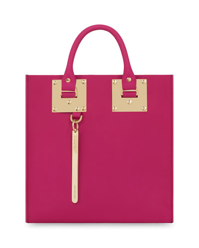 Square Albion Tote Bag, Fuchsia