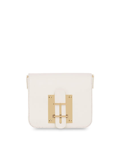 Darwin Small Leather Crossbody Bag, White
